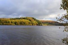 An Autumn view arcross Lake Vyrnwy Royalty Free Stock Photo
