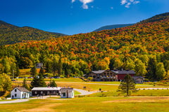 Autumn view of the base of the Mount Washington Auto Road, near Royalty Free Stock Photo