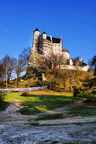 Autumn view of the beauty medieval castle in Bobolice, Poland Stock Image