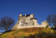 Autumn view of the beauty medieval castle in Bobolice, Poland Stock Photo