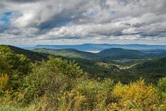 Autumn View Beldor Ridge, Massanutten Mountain, and Page Valley. An autumn view from Sandy Bottom Overlook of Beldor Ridge, Massanutten Mountain, and Page Valley royalty free stock photos