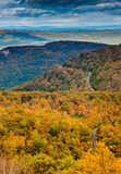 Autumn view of the Blue Ridge Mountains and Shenandoah Valley fr Royalty Free Stock Images