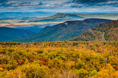 Autumn view of the Blue Ridge Mountains and Shenandoah Valley fr stock images