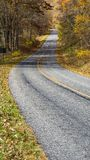 An Autumn View of the Blue Ridge Parkway Roadway stock photo