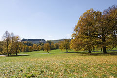 The autumn view of the castle Royalty Free Stock Photo