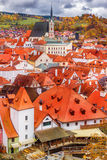 Autumn view on Cesky Krumlov Royalty Free Stock Images