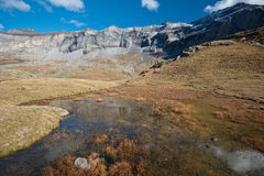 Autumn view of the cirque de Troumouse Royalty Free Stock Photography
