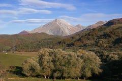 Autumn view of Corvo mountain in Abruzzo