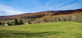 Autumn View de la montagne de crique de Johns - 2 photo libre de droits