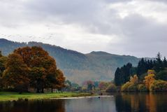 Autumn view from Friar's Crag Royalty Free Stock Photo
