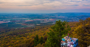 Autumn view from High Rock, at Pen Mar County Park, Maryland. Royalty Free Stock Photo