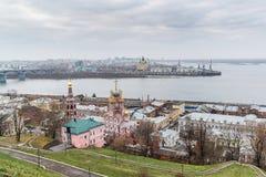autumn view of historic district of Nizhny Novgorod. Russia Stock Photos