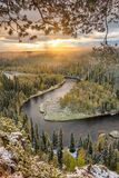 Autumn View In Oulanka National Park Landscape Royalty Free Stock Photos