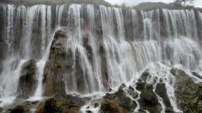 Autumn view of the Jiuzhaigou Valley waterfalls
