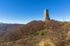 Autumn view of Monument to Liberty Shipka, Bulgaria Royalty Free Stock Photography