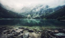Autumn view of Morskie Oko lake, Zakopane in Poland Royalty Free Stock Image