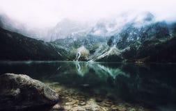 Autumn view of Morskie Oko lake, Zakopane in Poland Royalty Free Stock Photo