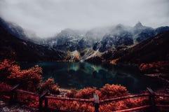Autumn view of Morskie Oko lake, Zakopane in Poland Stock Images