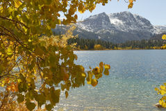 Autumn view of a mountain lake Royalty Free Stock Image
