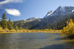 Autumn view of a mountain lake shoreline Stock Photo
