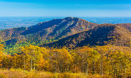 Autumn view of Old Rag, in Shenandoah National Park, Virginia. Royalty Free Stock Photos