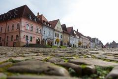 Autumn view of old town market square in Bardejov, Slovakia Stock Photo