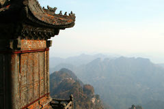 Autumn view from one of peaks of Wudang mountains, Hubei, China Stock Photo
