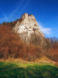 Autumn view of Ostra Skala, Slovakia stock images
