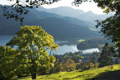 Autumn View Over Lake Schilersee Stock Photography