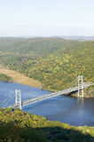 Autumn view overlook at 1300 feet of Bear Mountain Bridge and Hudson Valley and River at Bear Mountain State Park, New York Stock Images