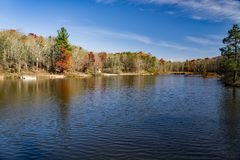 Autumn View of Pandapas Pond - 2. Autumn view of Pandapas Pond located in the George Washington and Jefferson National Forest, Giles County, Virginia, USA Royalty Free Stock Photo