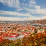 Autumn view on Prague Royalty Free Stock Image