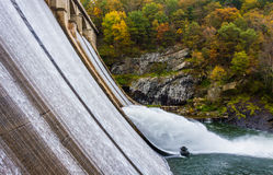 Autumn view of Prettyboy Dam, in Baltimore County, Maryland. Stock Image