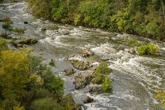 Autumn View of the Roanoke River Stock Image