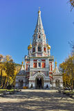 Autumn view of Russian church in town of Shipka, Bulgaria Stock Photos