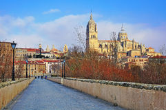 Autumn view of Salamanca old town Stock Photos