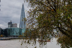 Autumn view of the Shard stock photography