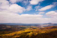 Autumn view of the Shenandoah Valley from Skyline Drive in Shenandoah National Park Royalty Free Stock Photos