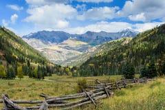 Autumn View of the Sneffels Mountains Range From Sunshine Mesa,. Autumn on Sunshine Mesa - Colorado Rocky Mountain Scenic Beauty royalty free stock photo