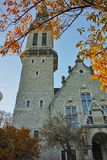Autumn view of the St. Jakob Church, Zurich, Switzerland. ZURICH, SWITZERLAND -OCTOBER 28, 2015: Autumn view of the St. Jakob Church, Zurich, Switzerland Stock Photo