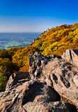 Autumn view of Stony Man Summit and the Shenandoah Valley, from Royalty Free Stock Photos