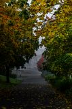 Autumn. View from the street in Kouvola, Finland Royalty Free Stock Photos
