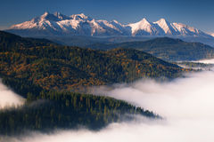 Autumn view on Tatra Mountains Royalty Free Stock Images