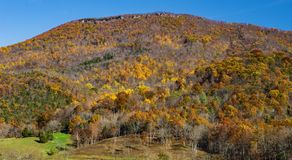 Autumn View of Tinker Cliffs. Located on Tinker Mountain, Botetourt County, Virginia, USA Stock Images