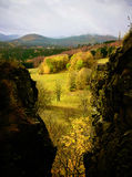 Autumn View from Tolštejn Castle Royalty Free Stock Image