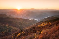 Autumn view from the top royalty free stock photo