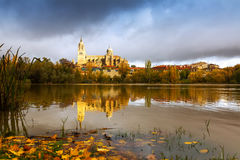 Autumn view of Tormes River in Salamanca. Castile and Leon, Spa Royalty Free Stock Photography
