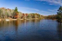 Autumn View van Pandapas-Vijver - 2 royalty-vrije stock foto