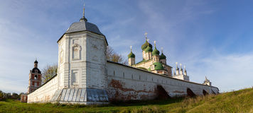 Autumn view of the walls and the Uspensky Cathedral in Goritsky monastery. Pereslavl-Zalessky. Russia. Stock Image