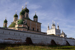 Autumn view of the walls and the Uspensky Cathedral in Goritsky monastery. Pereslavl-Zalessky. Russia. Royalty Free Stock Images